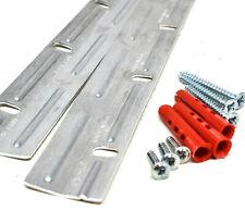 INTERLOCKING CLEAT STRIPS 150mm Z BAR HANGERS PICTURE MIRROR + SCREWS WALL PLUGS