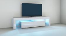 """Lowboard """"Lima"""" 151 cm TV Board Schrank Unterschrank Weiß Hochglanz Trend"""