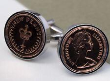 Half Pence Coin Cufflinks Choice of Birthday year 1971 to 1983