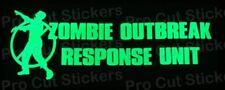 Zombie Outbreak Respuesta Unidad Brilla en la oscuridad LUMINISCENTE VINILO