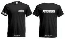 Feuerwehr T-Shirt Brust Rücken Ärmeldruck Neu Silber reflektierend Neu S bis 5XL