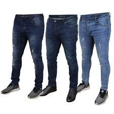 Para Hombre Ripped Jeans Denim alma valiente Ortiz Slim Fit Lark Elastizados ajustados Ibaka Nuevo