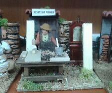 Restauro mobili mestieri pastore in movimento 7 cm presepe crib Shepherd