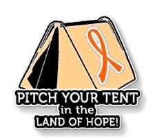 Cancer Causes Animal Abuse Melanoma Lupus Orange Ribbon Awareness Pin Tent Many