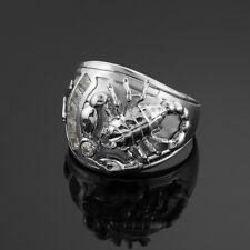 Men's White Gold Stunning Scorpion Scorpio Zodiac Ring Sizable from size 6.5-15
