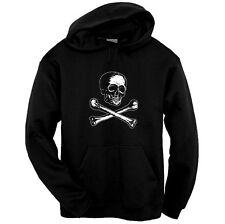 Victorian Skull and Bones Pirate Pullover Hoodie Sweatshirt Size S-3XL Black