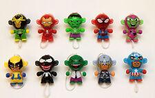 Kinder Marvel twisthead Figuras Spiderman Iron Man Hulk Thor Wolverine Loki