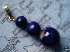Lapis Lazuli Kugel Anhänger Gold 333,Kettenanhänger 333er Gold mit  Lapis Lazuli