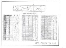 57 58 59 60 Dodge Truck NOS Frame Dimensions Align Spec
