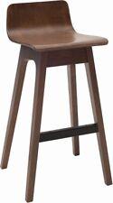 Contemporary Modern Design Timber Walnut Kitchen Counter Bar Stool 2x pcs