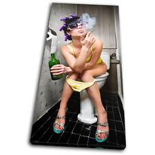 Smoking Girl Toilet  Urban SINGLE LONA pared arte Foto impresion