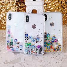 Iphone 6S X XS MAX 7/8 Plus Glitter App Apple Case Cover Floating Dynamic Liquid