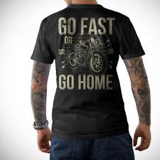BIKER T-Shirt - GO FAST -Front&Rückenprint Motorrad Motorcycle Schrauber S-5XL