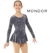 Mondor Born to Skate Printed Glitter Velvet Dress Wallpaper Gray - New Style!