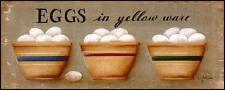 Art Print, Framed or Plaque by Jill Ankrom - Eggs in Yellow Ware - JIL30-R