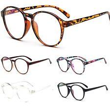 Clear Lens Glasses Fashion Anti Glare Oval Round Keyhole Womens Mens