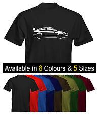 Velocitee Mens Premium T-shirt Ford Focus Mk2 WRC opciones de color de tamaño de la imagen
