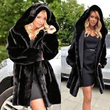 1 Pcs Women Warm Winter Faux Fur Hooded Parka Coat Overcoat Long Jacket Outwear