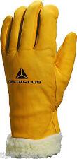 Delta Plus Venitex fbf15 Para Hombre Forrada De Piel De Cuero Invierno Térmica de esquí Guantes de trabajo
