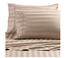 Cannon 4 Piece 100% Cotton 300 T-C Damask Stripe Flexi-Fit Soft Sheet Set