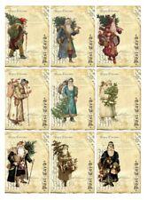 Aufkleber-Möbeltattoo-transparent-Shabby-Vintage-Nikolaus-Weihnachten-Santa-1163