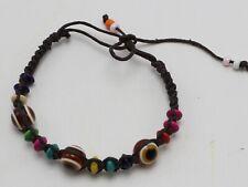 5/10 Pcs Brown Evil Eye Braided String Ethnic Bracelets Lucky Eye Bead Success
