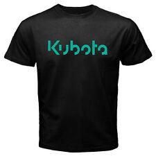 New Kubota Tractor Green Logo Men's Black T-Shirt Size S-3XL