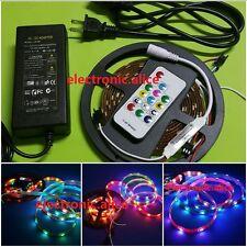 WS2812B 5050 RGB LED Strip 30LED/M Individual Addressable &controller & 8A power