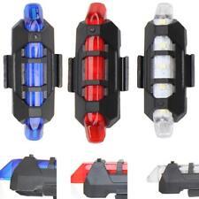 5 LED USB portátil recargable cola bicicleta lámpara luz Bicycle Light sa jsp