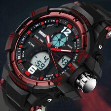 New Sport Waterproof Mens LCD Digital Analog Quartz Date Alarm Wrist Watch