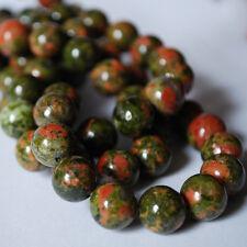 Grado a natural jaspe piedras preciosas redonda granos de Unakite - 4 mm 6 mm 8 mm 10 mm