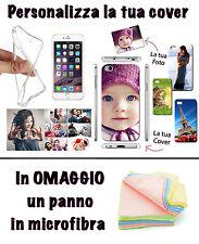 COVER FOTO PERSONALIZZATA TPU SMARTPHONE CELLULARE IPHONE 7 PLUS + OMAGGIO PANNO