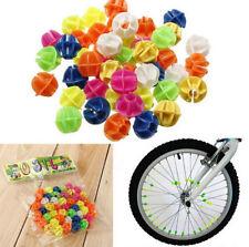 FD4831 Colorful Plastic Clip Kids Bike Bicycle Wheel Spoke Beads Decor 45pcs