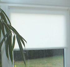 Seitenzug Rollo weiss Klemmfix Fensterträger o. Bohren 60 - 80 - 100 cm kürzbar