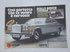 advertising Pubblicità 1977 ROLLS ROYCE CAMARGUE BURAGO