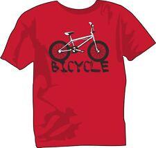 T-Shirt girocollo manica corta bambino unisex B0021 Bicicletta Kids Bicycle