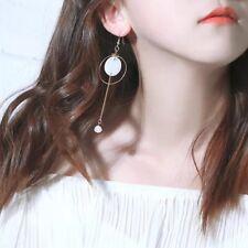 Fashion Big Circle Shell Pearl Simple Geometric Drop Dangle Earrings