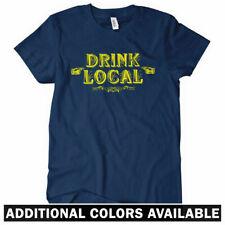 Drink Local Women's Tee - Brewery Micro Distillery Beer Liquor Wine - S to 2XL