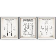 Doctor Nurse Set of 3 Patent Prints Blueprint Decor Vintage Medical Art Gift