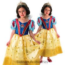 CK205 Disney Princess Glitter Snow White Gown Dress Child Girl Book Week Costume