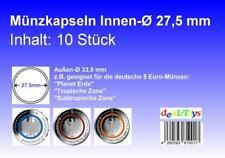 Münzkapseln 27,5mm, 1-100er Setauswahl, geeignet für 5 Euro Münze...