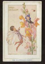 ARTIST MARGARET TARRANT 1928 PPC...SNAP DRAGON FAIRIES