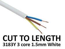 Blanco De Pvc Flexible Cable 3: núcleo de 1.5 mm 3183y cortadas a la longitud