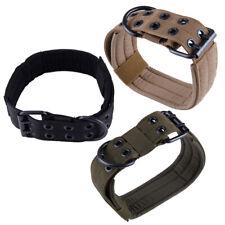 Military Tactical Dog Collar Pet Dog Training Hunting Nylon Leash Metal Buckle