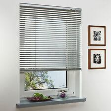 Aluminium Jalousie Fenster Rollo Jalousette Silber - Länge 130 cm 175 cm 240 cm