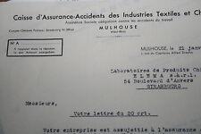caisse assurance accidents industrie textile Mulhouse 1947