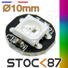 5279# 10 à 100pcs module 1 LED RGB pixel WS2812 PCB noir