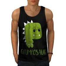 Grumpy Dinosaur Men Tank Top NEW   Wellcoda