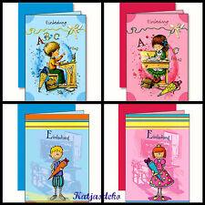 5 Einladungskarten Einschulung Schulstart Mädchen Jungs