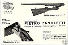 PUBBLICITA' 1966 P. ZANOLETTI ARMI FUCILI  GARDONE VAL TROMPIA BRESCIA  CACCIA